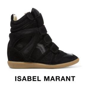 Isabel Marant Bekett Black Sneakers